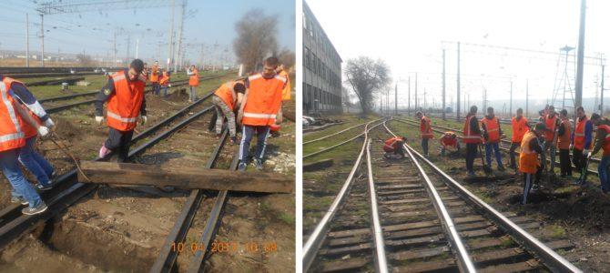 Студенты-путейцы совместно с Сарептской дистанцией пути отрабатывают действия при возникновении ЧС на железной дороге.