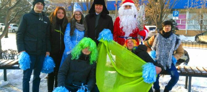 Студенты и работники ГАПОУ ВТЖТиК приняли участие в параде Дедов Морозов